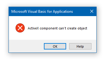 Active X Error